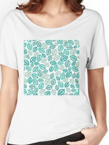 Leaf Pattern Women's Relaxed Fit T-Shirt