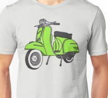 Vespa Illustration - Lime Unisex T-Shirt