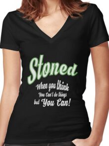 Stoned T-shirt Women's Fitted V-Neck T-Shirt