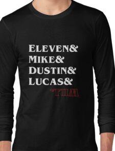 Stranger Things Characters Long Sleeve T-Shirt