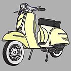 Vespa Illustration - Cream by thyearlofgrey