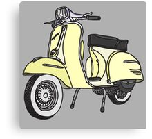 Vespa Illustration - Cream Canvas Print