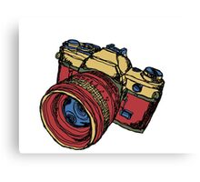 Classic 35mm SLR Camera in Fall Colors Canvas Print