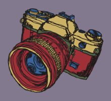 Classic 35mm SLR Camera in Fall Colors Kids Clothes