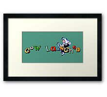 Earthworm Jim - Cow Launched Framed Print
