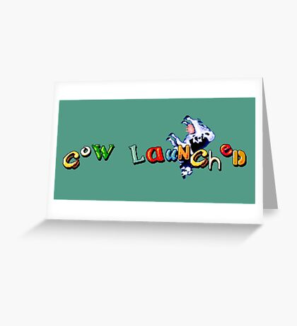 Earthworm Jim - Cow Launched Greeting Card