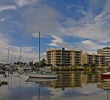 Ross Creek - King Tide - Townsville  by Paul Gilbert