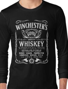 Supernatural - Winchester's Whiskey (White text) Long Sleeve T-Shirt