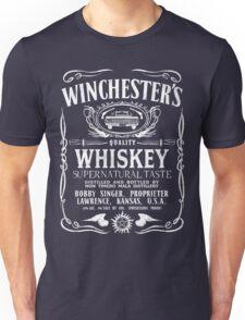 Supernatural - Winchester's Whiskey (White text) Unisex T-Shirt