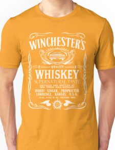 Supernatural - Winchester's Whiskey (White text) Unisex T-Shirt