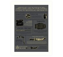 The Hunters Guide to Mystical Artifacts Art Print