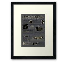 The Hunters Guide to Mystical Artifacts Framed Print