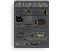 The Hunters Guide to Mystical Artifacts Canvas Print