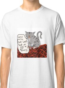"Cat ""Egg"" Confession Classic T-Shirt"