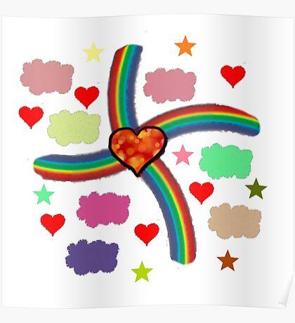 Rainbow Love Utopia Poster