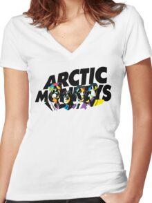 Arctic Monkeys Mosaic Women's Fitted V-Neck T-Shirt