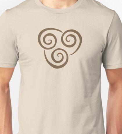 Airbending Symbol (brown) Unisex T-Shirt