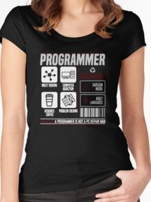 Programmer for dummies Women's Fitted Scoop T-Shirt
