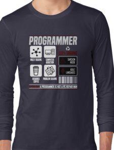 Programmer for dummies Long Sleeve T-Shirt