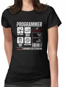 Programmer for dummies Womens Fitted T-Shirt