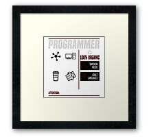 Programmer for dummies Framed Print