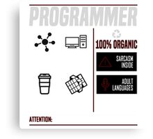Programmer for dummies Canvas Print