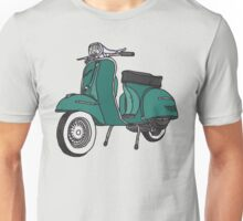 Vespa Illustration - Teal Unisex T-Shirt