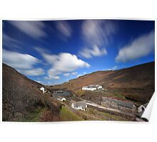Boscastle in Cornwall, England. By Carl Whitfield. Poster