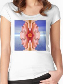 Summer Reflection Women's Fitted Scoop T-Shirt