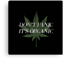 Don't Panic it's Organic Vintage Print Canvas Print