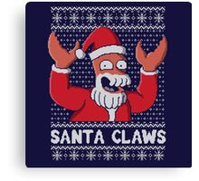Santa Claws christmas ugly sweater Canvas Print