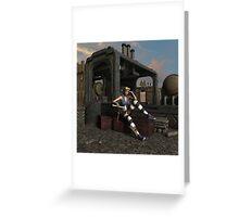 Steampunk Blaze  Greeting Card