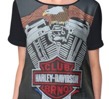 Club Harley Davidson Brno . Free Europe .  Dr.Andrzej Goszcz Chiffon Top