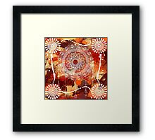 abstract in love with Mandala Framed Print