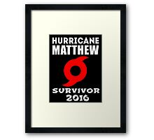 Hurricane Matthew Framed Print