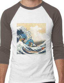 Great Wave of Gyarados Men's Baseball ¾ T-Shirt