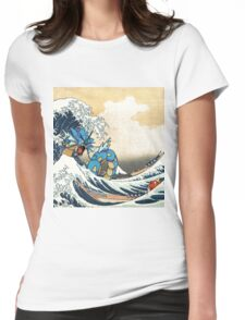 Great Wave of Gyarados Womens Fitted T-Shirt