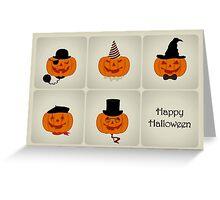 Jack O' Lantern Characters - Happy Halloween Card Greeting Card