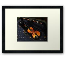 Violin and Bow in Case Framed Print