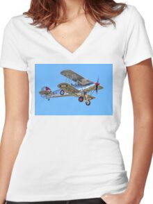 Hawker Fury I K5674 G-CBZP Women's Fitted V-Neck T-Shirt