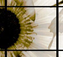 transparent flower in  grey Sticker