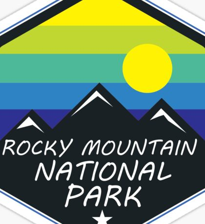 ROCKY MOUNTAIN NATIONAL PARK COLORADO MOUNTAINS HIKING CLIMBING CAMPING 2 Sticker