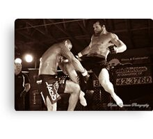 Flying Knee Canvas Print