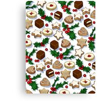 Christmas Treats and Cookies Canvas Print