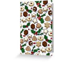 Christmas Treats and Cookies Greeting Card
