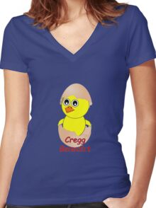 Chick Cregg Benedict Women's Fitted V-Neck T-Shirt