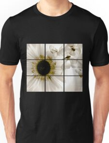 transparent flower in  grey Unisex T-Shirt