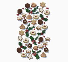 Christmas Treats and Cookies One Piece - Short Sleeve