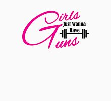 Girls just wanna have guns workout apparel Womens Fitted T-Shirt