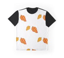 pattern with orange autumn leaves Graphic T-Shirt